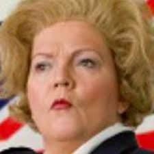 Lesley Smith is Margaret Thatcher at St Alphege Parish Church on 13 Feb 2020
