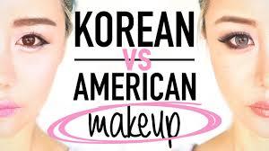 korean makeup vs american makeup before