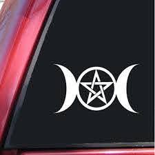 Wiccan Triple Moon Goddess Vinyl Decal Sticker For Car Truck Window Laptop Wish