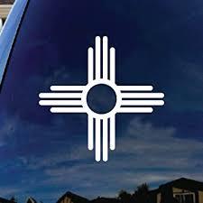 Amazon Com Socooldesign New Mexico Symbol Car Window Vinyl Decal Sticker 4 Wide White Automotive