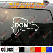 Dominican Republic Map Outline Dom Decal Sticker Car Vinyl Pick Size Color Ebay