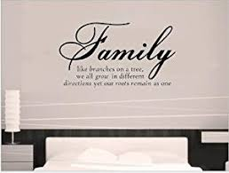 Buy Family Like Branches On A Tree We All Grow In Different Directions Yet Our Roots Remain As One Quotes And Sayings Wall Decal Removable Wall Sticker For Home Decor Luckkyy In Cheap