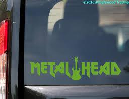 Metal Head Vinyl Decal Sticker 11 5 X 3 Hard Heavy Black Death Speed Thrash Minglewood Trading