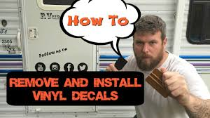 How To Remove Rv Vinyl Graphics And Install Custom Decals Youtube
