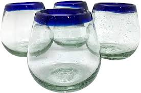 stemless wine glasses recycled glass