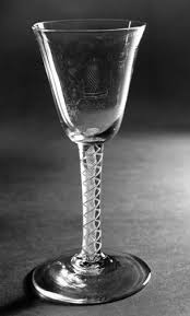 wine glass glass slightly tapering