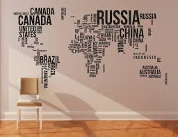 Large World Map Wall Sticker Independencefest Org