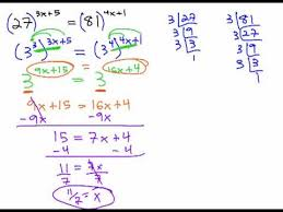 solving exponential equations with the