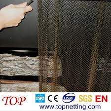 black fireplace screen wire mesh