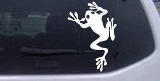 Amazon Com Rad Dezigns Frog Animals Car Window Wall Laptop Decal Sticker White 3in X 4 3in Automotive
