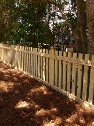 4 Picket Fence With Extended Posts Showing Copper Caps Backyard Fences Fence Design Diy Fence