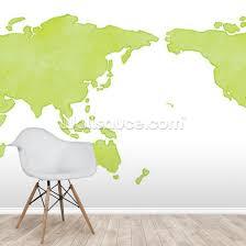 Watercolor Map Of The World Wall Mural Wallsauce Us