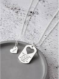 father daughter necklace set there s
