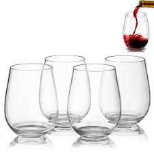 wine glasses stemless red white wine
