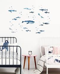 Whale And Dolphin Wall Decals For Happy Kids Rooms Made Of Sundays