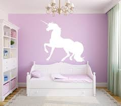 Unicorn Single Color Wall Decal Canvas Art Rocks