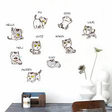 Cartoon Cat Wall Sticker Bedside Cabinet Refrigerator Corridor Decoration Buy At A Low Prices On Joom E Commerce Platform