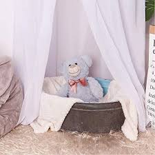 Bed Canopy Lace Mosquito Net For Kids White Hammock Town
