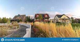 Curving White Picket Fence With Border Of Grass Stock Photo Image Of Picket Grass 163026316