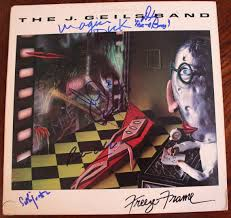 the j geils band 5 signed freeze
