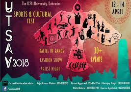 Utsav 2018 @ ICFAI University, Dehradun [April 12-14]: Registrations Open -  Noticebard