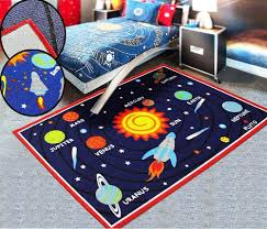 Kids Rooms Galaxy Planet Bedroom Rugs Nursery Floor Play Mats Girls Home Carpets Alfombras Infantiles Alfombras Infantiles