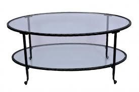 hammered oval coffee table dark bronze