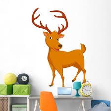 Cute Deer Wall Decal Wallmonkeys Com