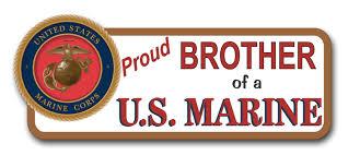 Proud Brother Of A U S Marine Bumper Sticker
