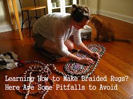 learning how to make braided rugs here
