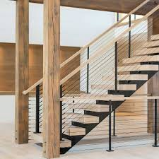 Cable Railing Custom Stairs Project Gallery Keuka Studios