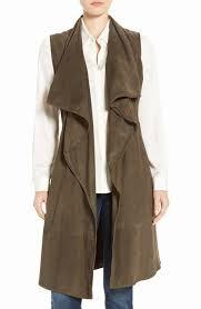 womens leather coats cascade collar
