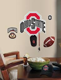 Roommates Ohio State Peel Stick Giant Wall Decal W Hooks Fitness Sports Family Recreation Game Room Game Room Wall Decor