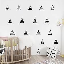 Nordic Style Mountains Wall Sticker Home Decor Kids Bedroom Wall Decals Cute Mountain Art Decor Stickers Home Decor Wall Stickers Home Decorwall Sticker Aliexpress