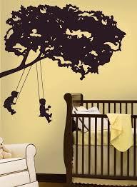 Kids On Swings Giant Tree Wall Decal Kids Room Wall Decals Kids Wall Decals Kid Room Decor