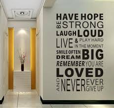 Free Shipping Have Hope Sticker Family Rules Home Decor Quotes Office Decoration Mural W Wall Decal Quotes Inspirational Inspirational Wall Decals Wall Writing