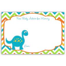 Dino Baby Blue Advice Card Festa Dinossauro Dinossauro Baby