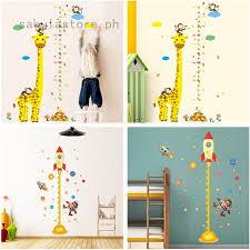 Home Decor Giraffe Height Chart Removable Wall Sticker Room Decal Kids Measuring Ruler Wl Unitransbahia Com Br