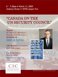 CIC Edmonton: Canada and the UN Security Council | Canadian International  Council