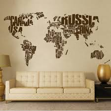 World Map Vinyl Decal For Wall Cutzz