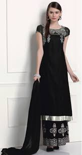 beautiful black brocade suit with