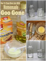 glue from glass with homemade goo gone