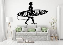 Surfing Surf Wall Decals Surfer Wall Decals Surfing Sports Etsy