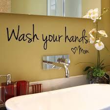 Amazon Com Fenleo Wash Your Hands Wall Stickers Decal Vinyl Art Mural Home Decor 44x14 4cm Home Kitchen