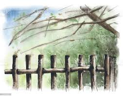 Rustic Wooden Fence Background Image Stock Illustration Download Image Now Istock
