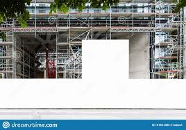 Construction Site With Blank Construction Fence Mockup Stock Image Image Of Building Industry 151521085