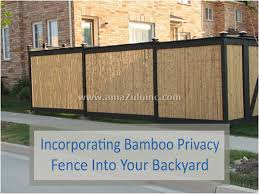 Incorporating Bamboo Fence Screening Into Your Backyard Privacy Bamboo Fence Amazulu