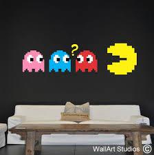 Pacman Retro Wall Decal Wall Art Studios