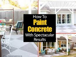 painting a concrete patio with
