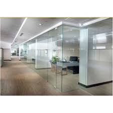 office frameless glass partition